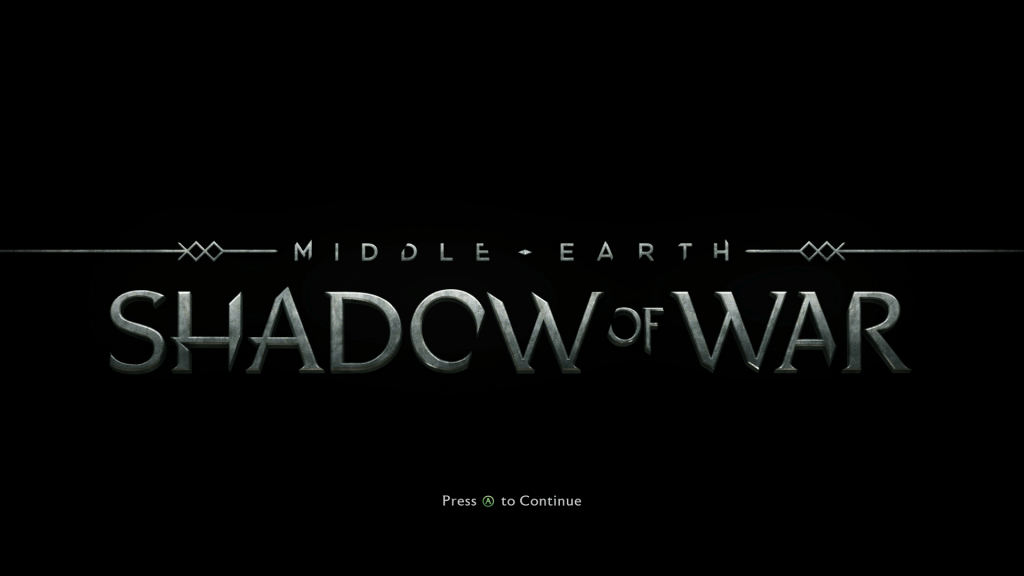 Shadow of War Title Screen