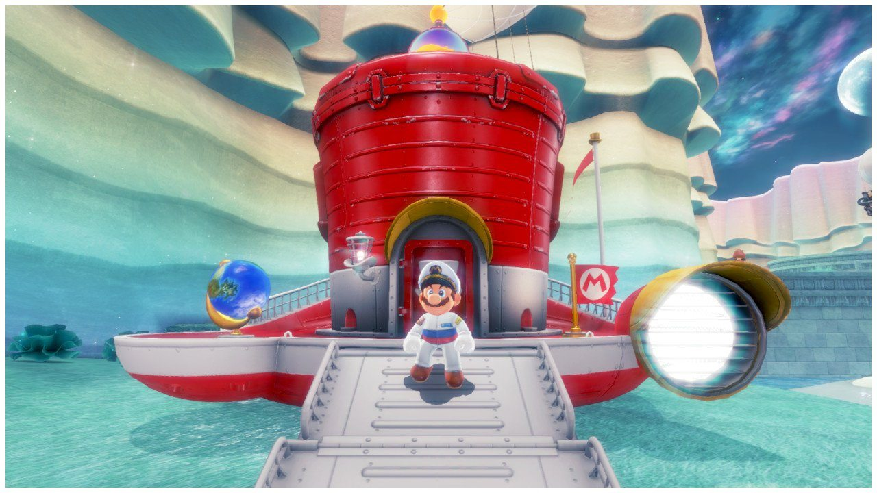Super Mario Odyssey Ship