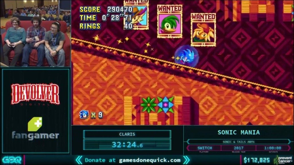 AGDQ 2018 Sonic Mania