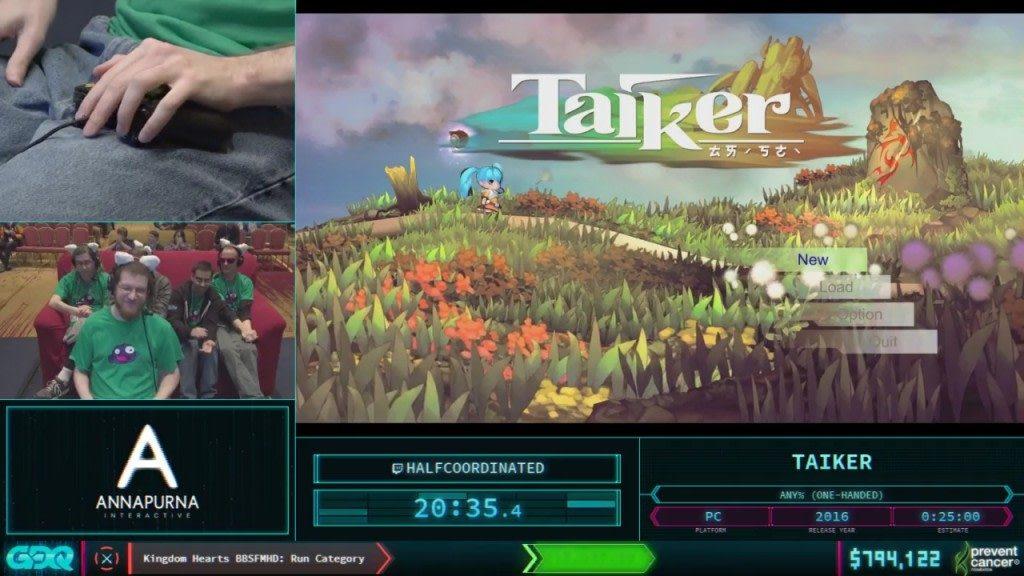 AGDQ 2018 Taiker
