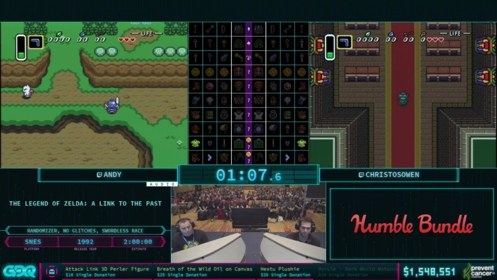 AGDQ 2018 Link to the Past