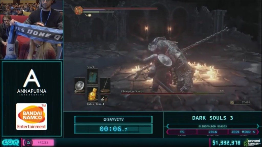 AGDQ 2018 Dark Souls 3 Blind