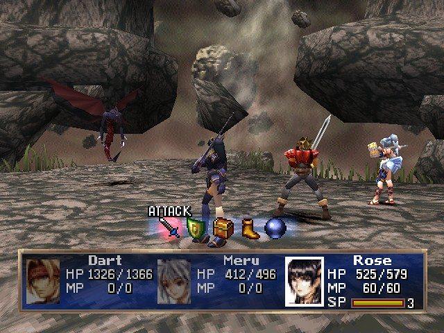 Legend of Dragoon Combat