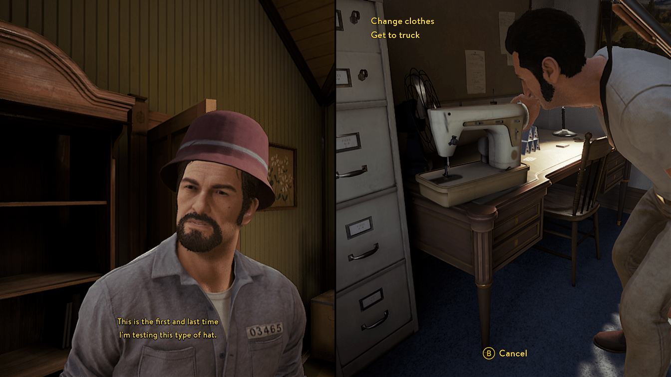 A Way Out Hat and Sewing