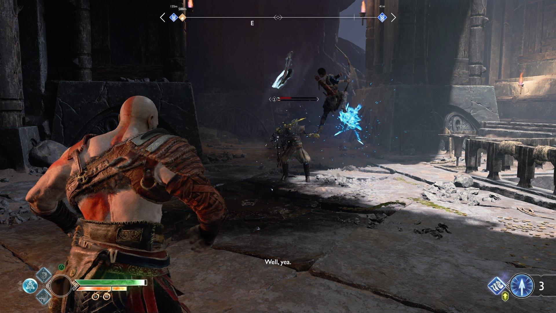 God of War Atreus Fighting