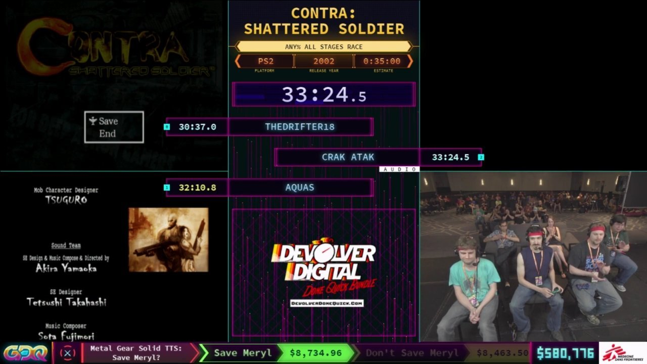 Contra Shattered Soldier SGDQ 2018