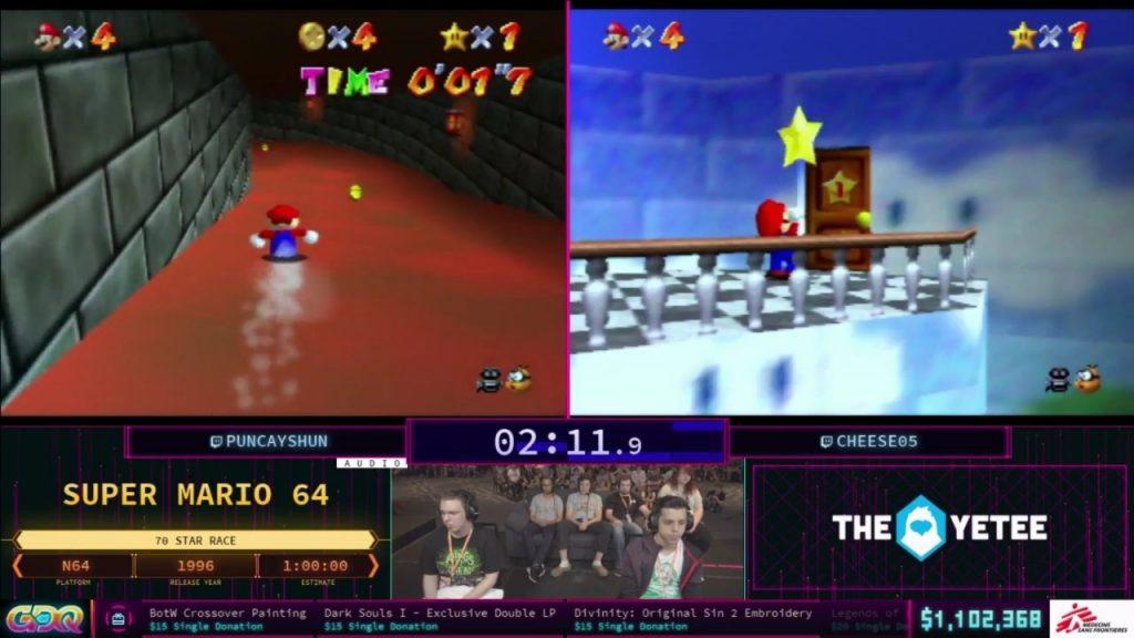 Mario 64 race SGDQ 2018