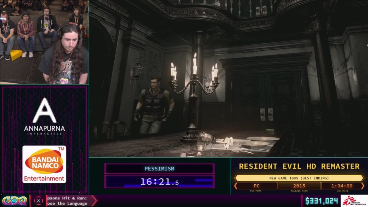 Resident Evil HD Remaster SGDQ 2018