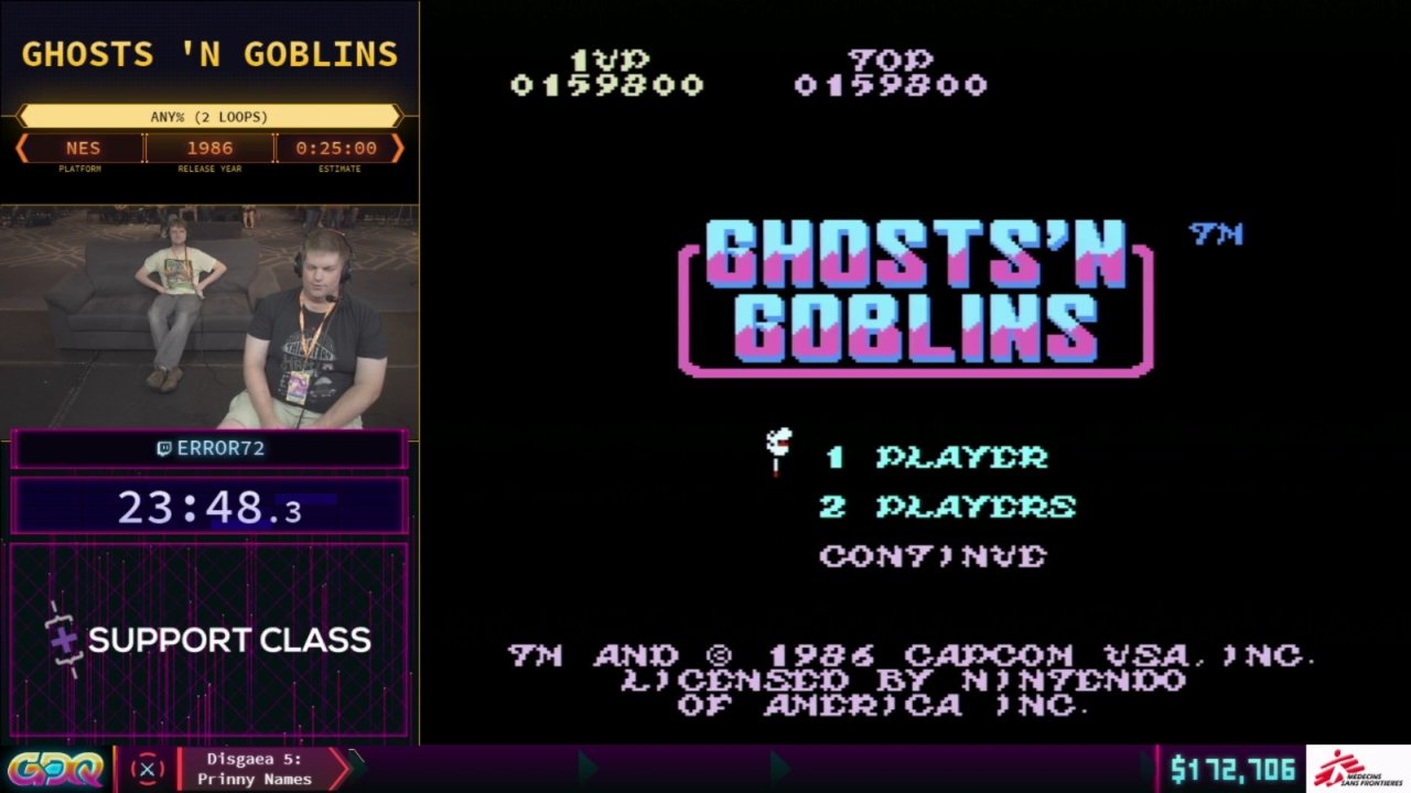 Ghosts 'n Goblins SGDQ 2018
