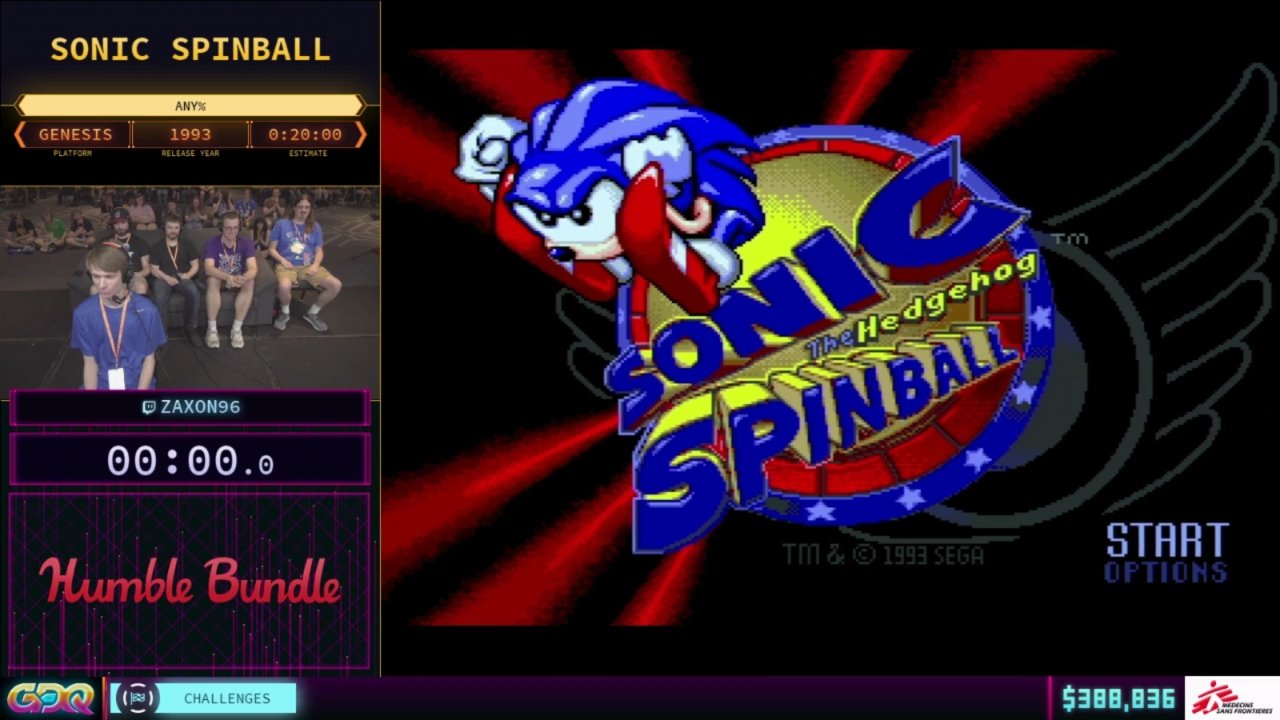 Sonic Spinball SGDQ 2018