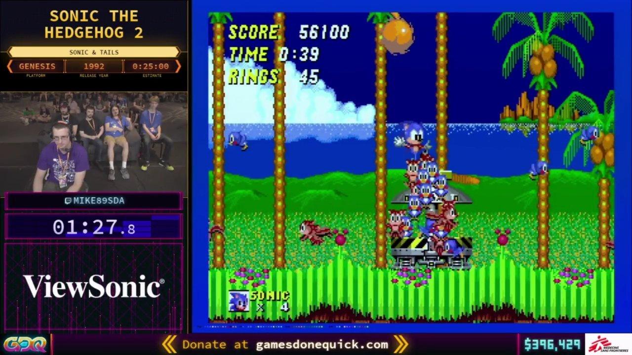 Sonic the Hedgehog 2 SGDQ 2018