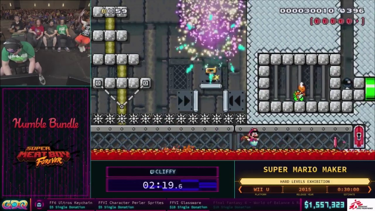 Mario Maker Showcase SGDQ 2018