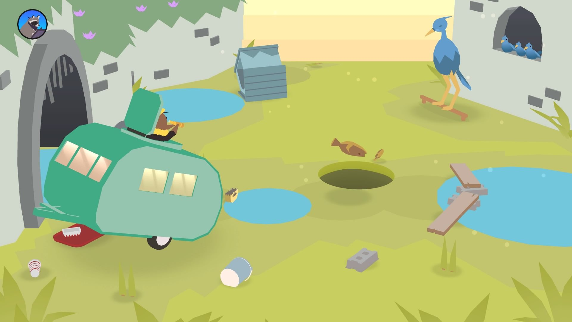 Donut County Gameplay