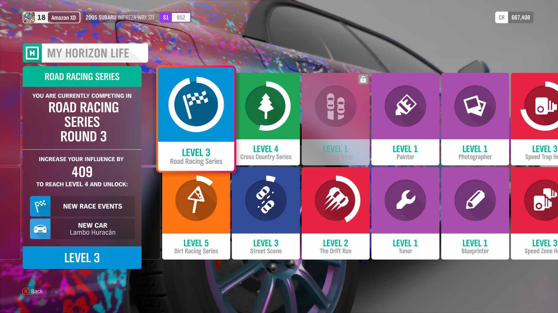 Forza Horizon 4 Progression