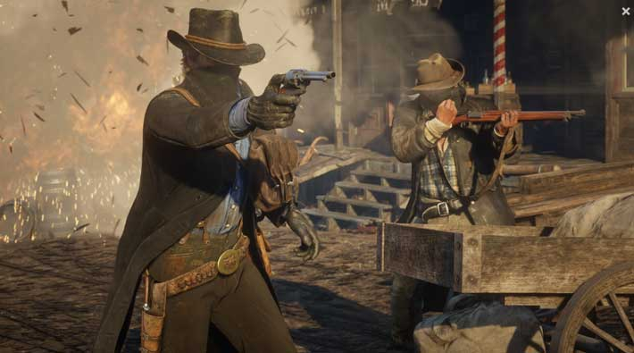 RDR2 gun scene