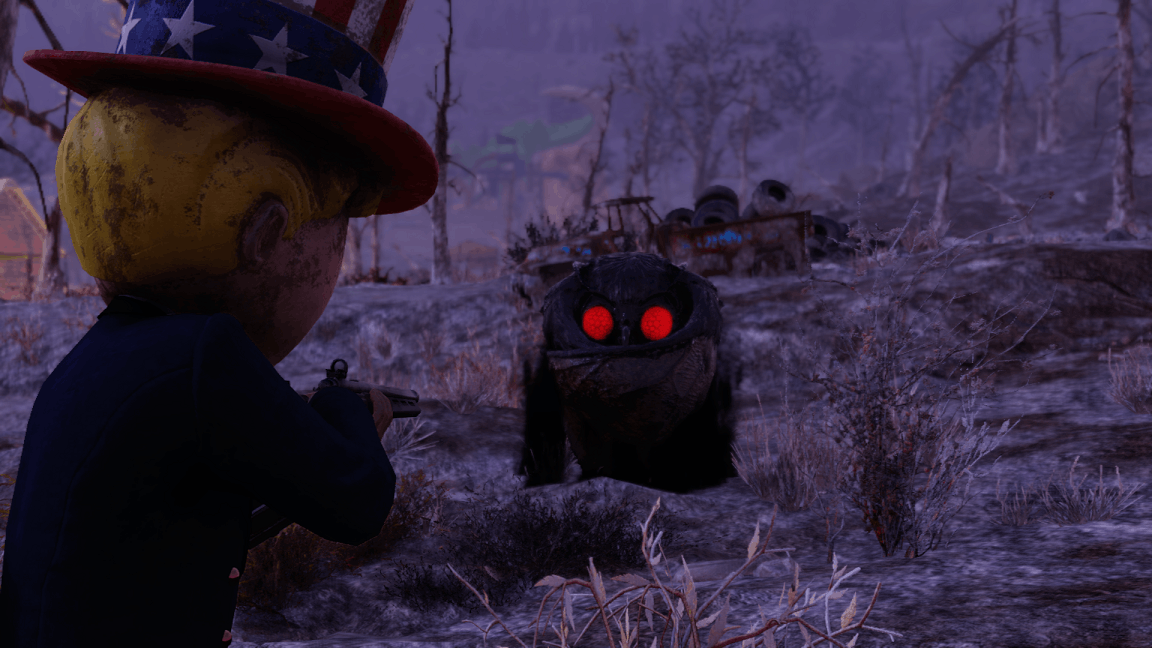 Fallout 76 Mothman Shoot