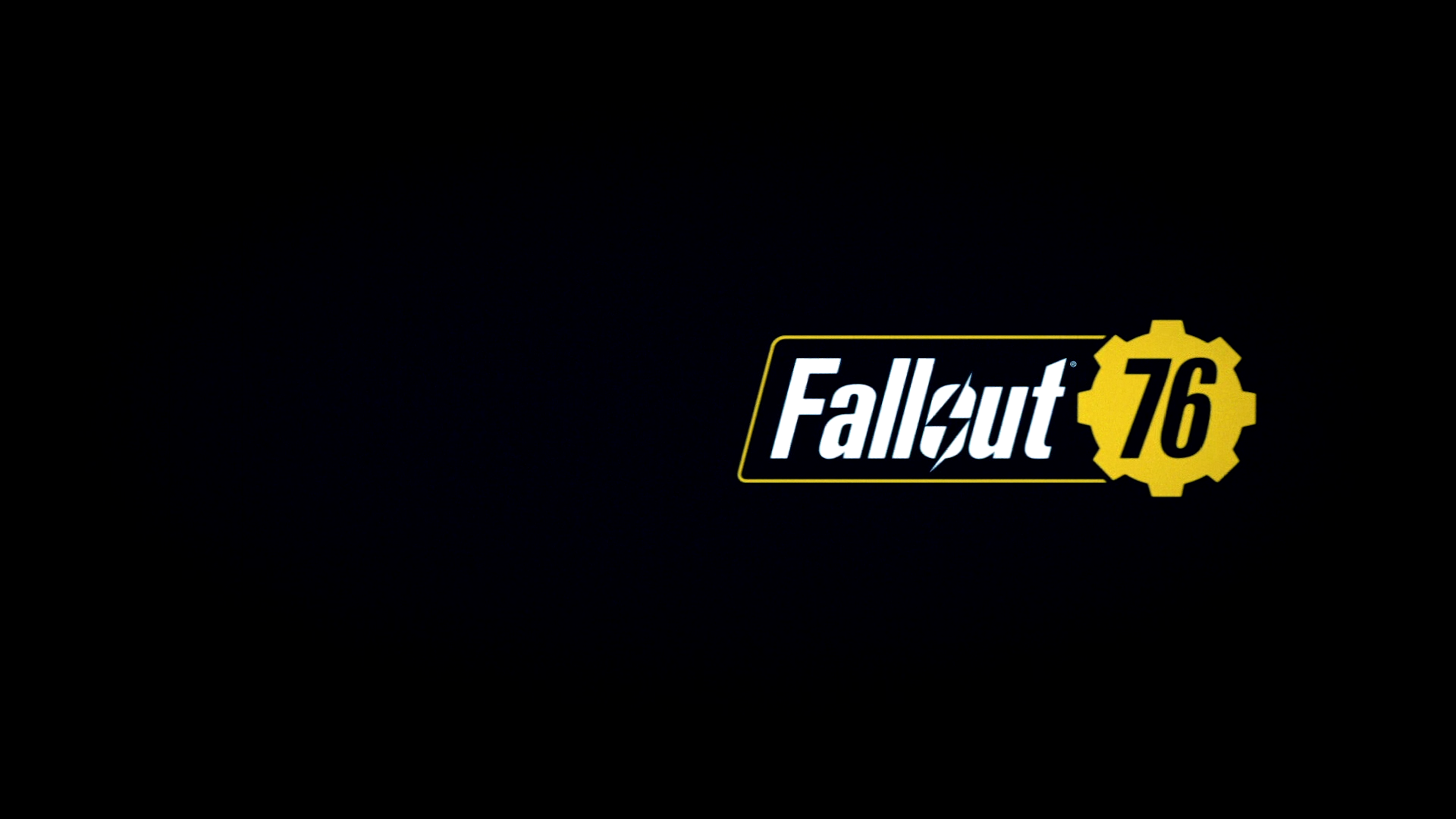 Fallout 76 Title Screen