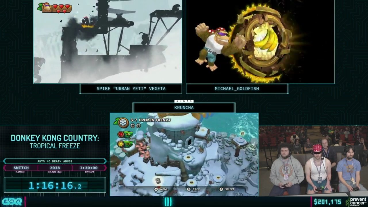 AGDQ 2019 Donkey Kong Country Tropical Freeze