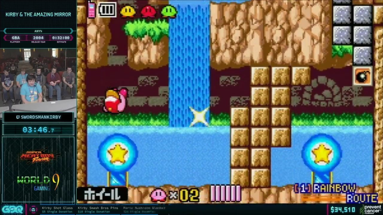AGDQ 2019 Kirby and the Amazing Mirror