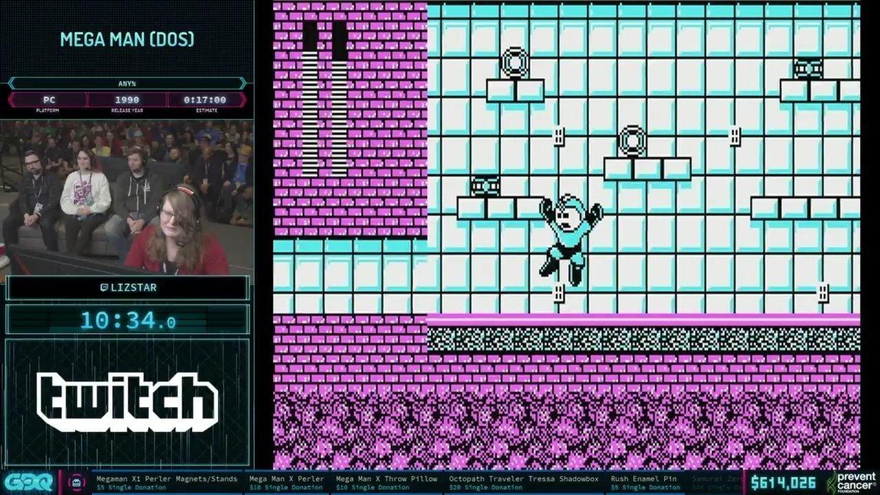 AGDQ 2019 Mega Man DOS