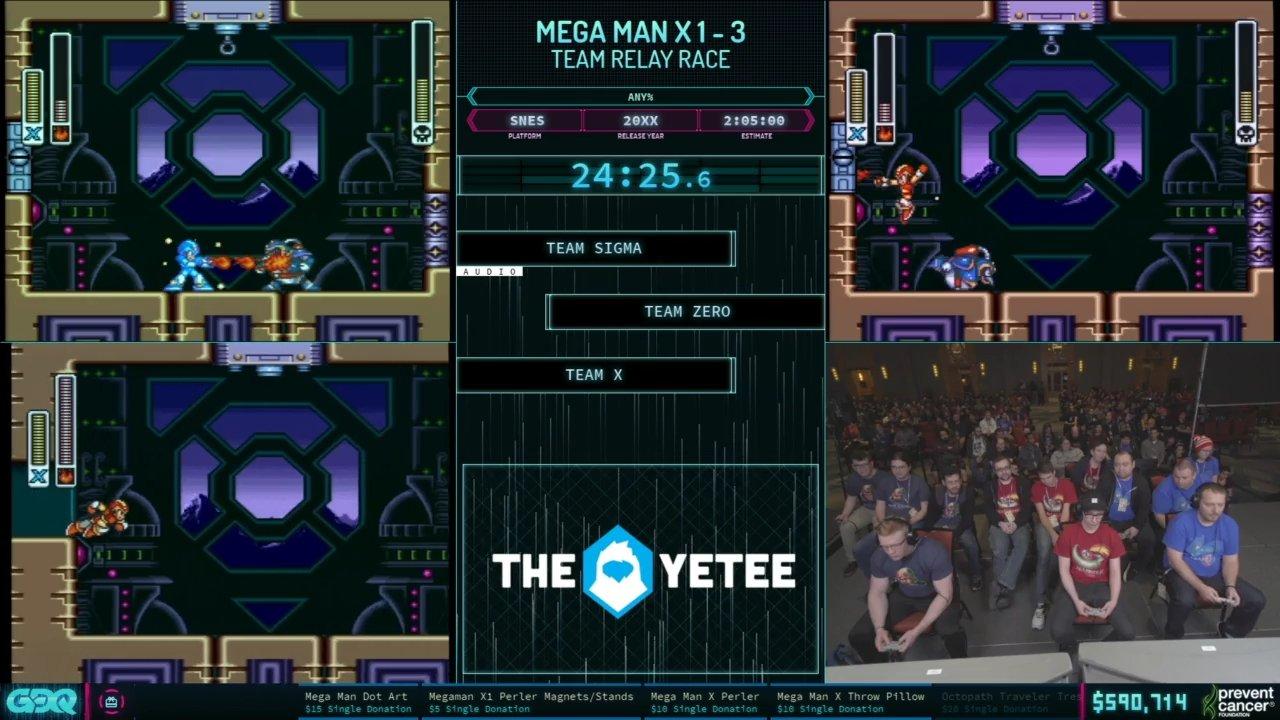 AGDQ 2019 Mega Man X Relay Race