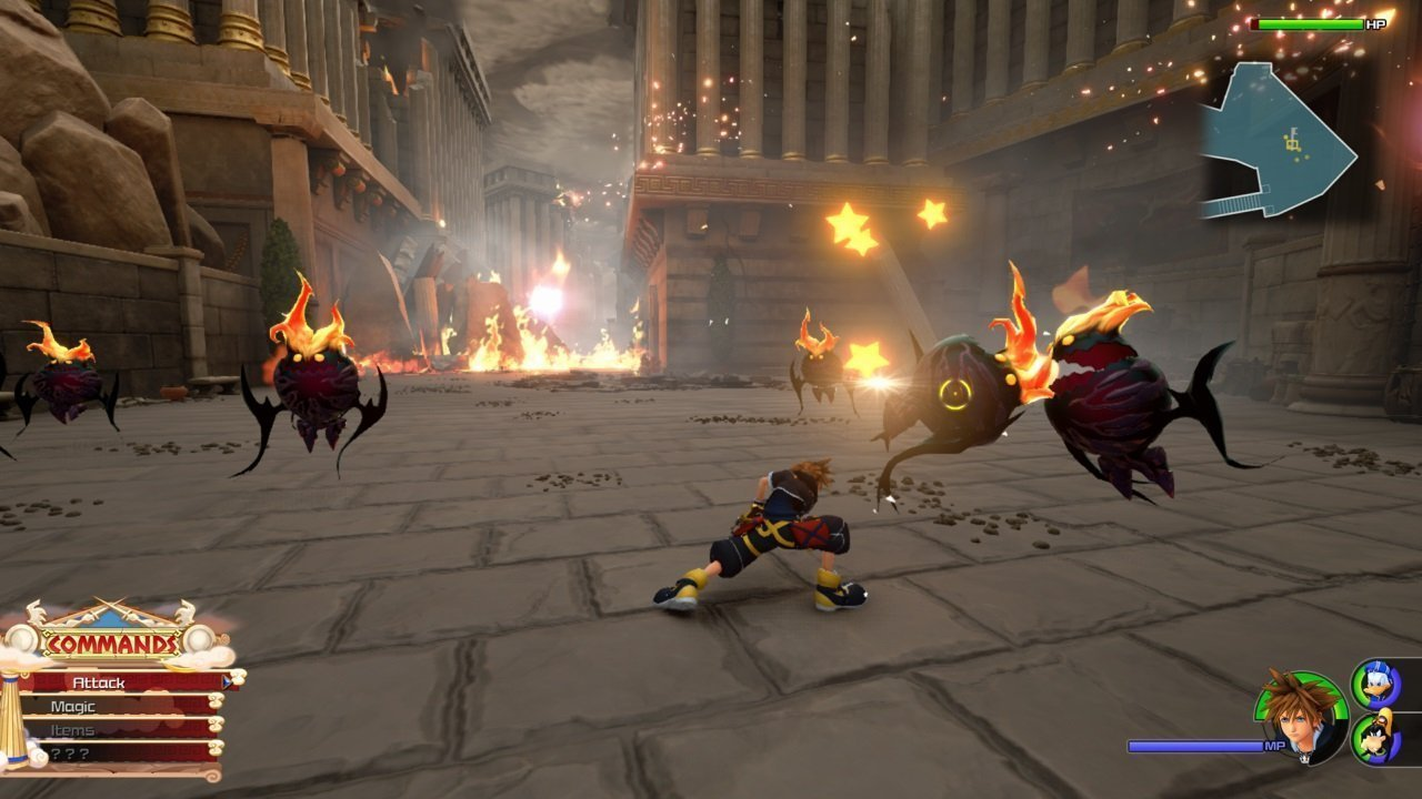 Kingdom Hearts 3 Olympus Combat