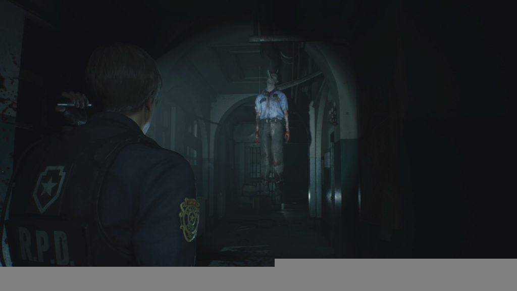 Resident Evil 2 Police Officer Hanging