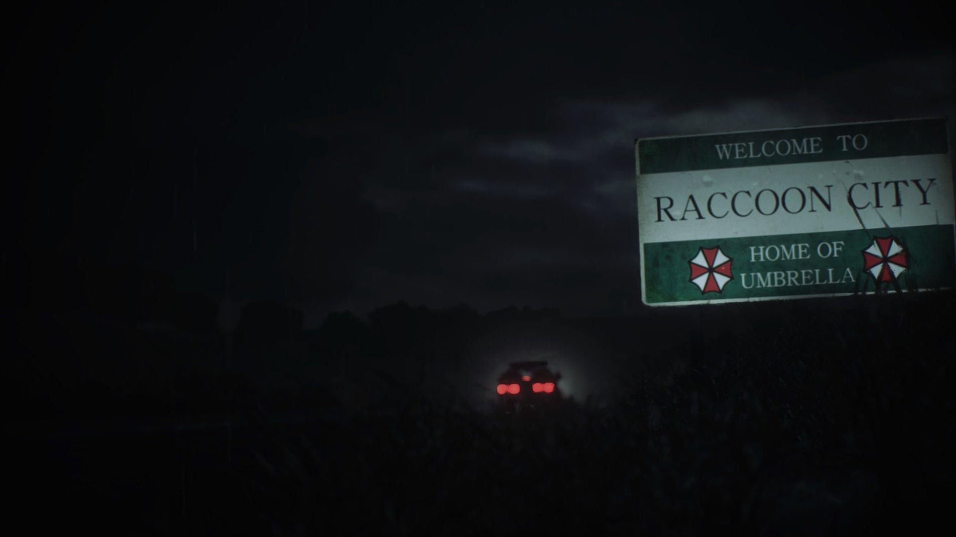 Resident Evil 2 Racoon City Billboard