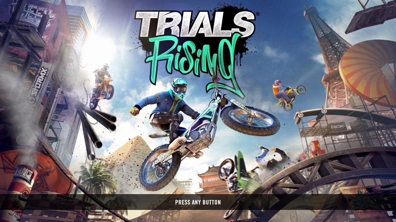 Trials Rising Title Screen