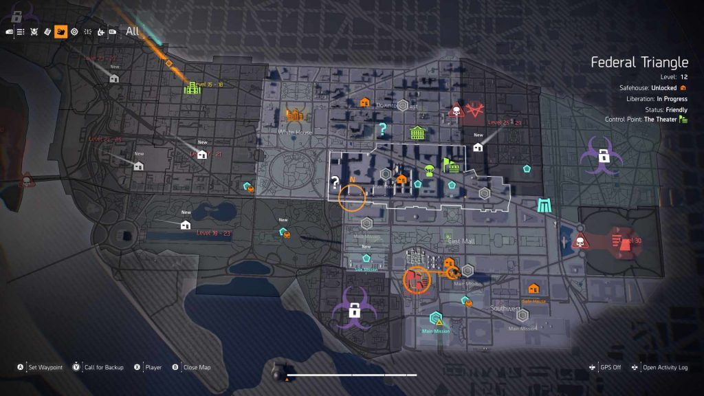 The Division 2 DC Map