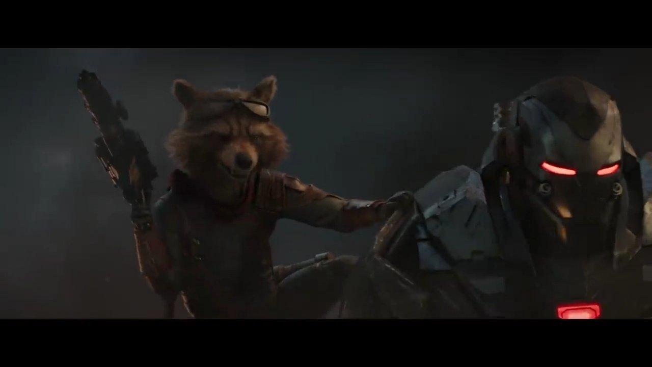Avengers Endgame Rocket and War Machine