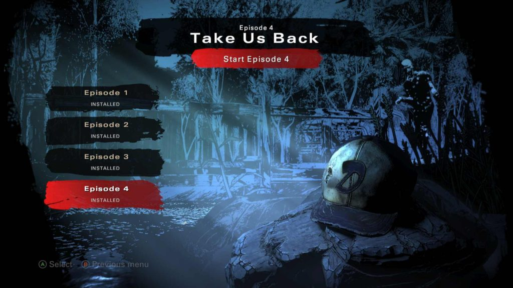The Walking Dead Final Season Take Us Back Select Screen