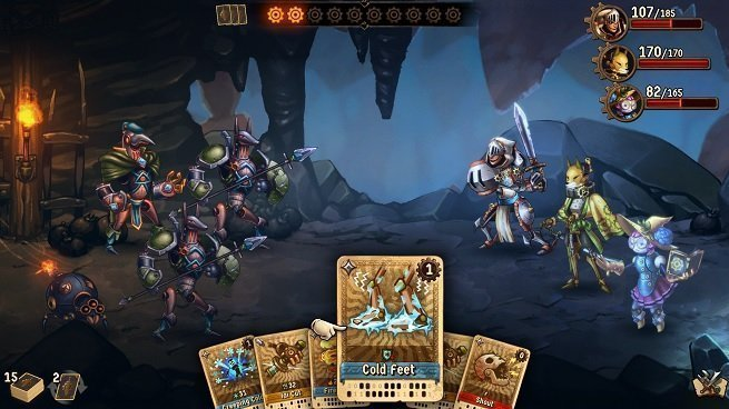 SteamWorld Quest card-based combat.