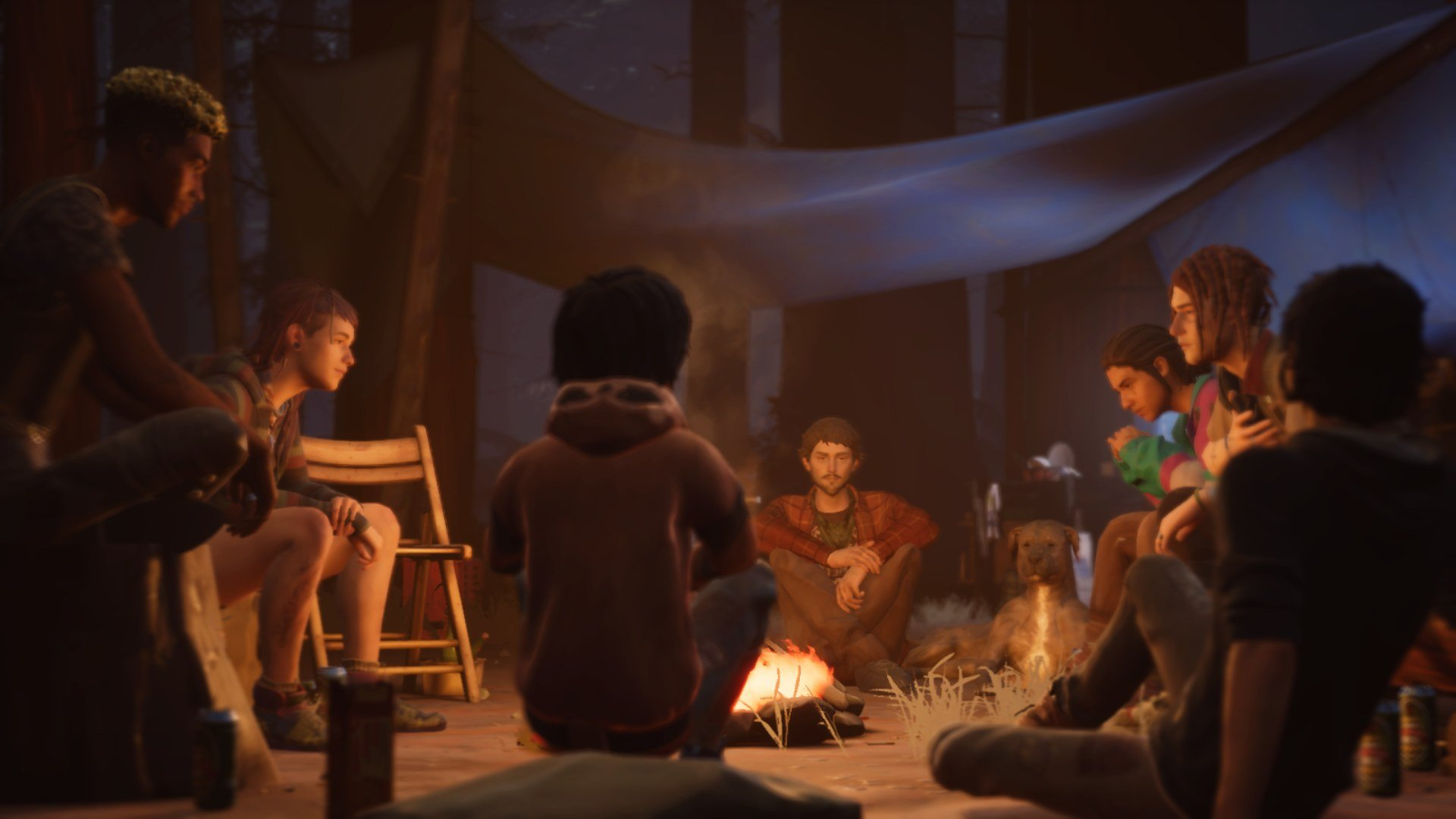 Life is Strange 2 Episode 3 enjoying the campfire