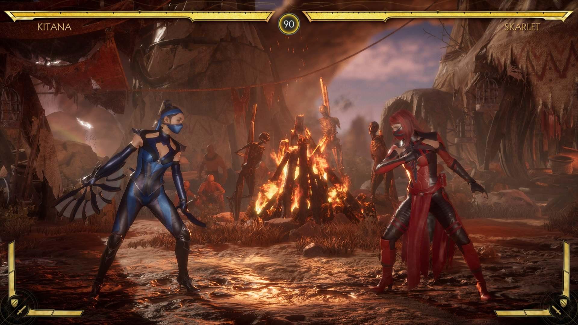 Mortal Kombat 11 Kitana versus Skarlet
