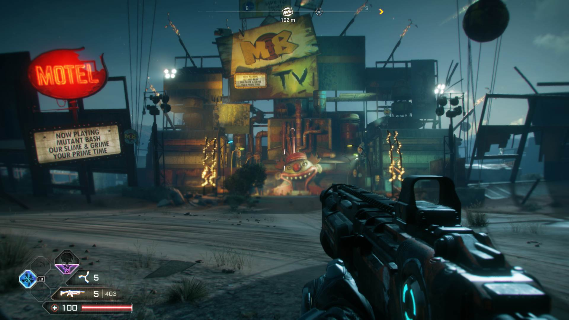 Rage 2 First Mutant Bash TV Location