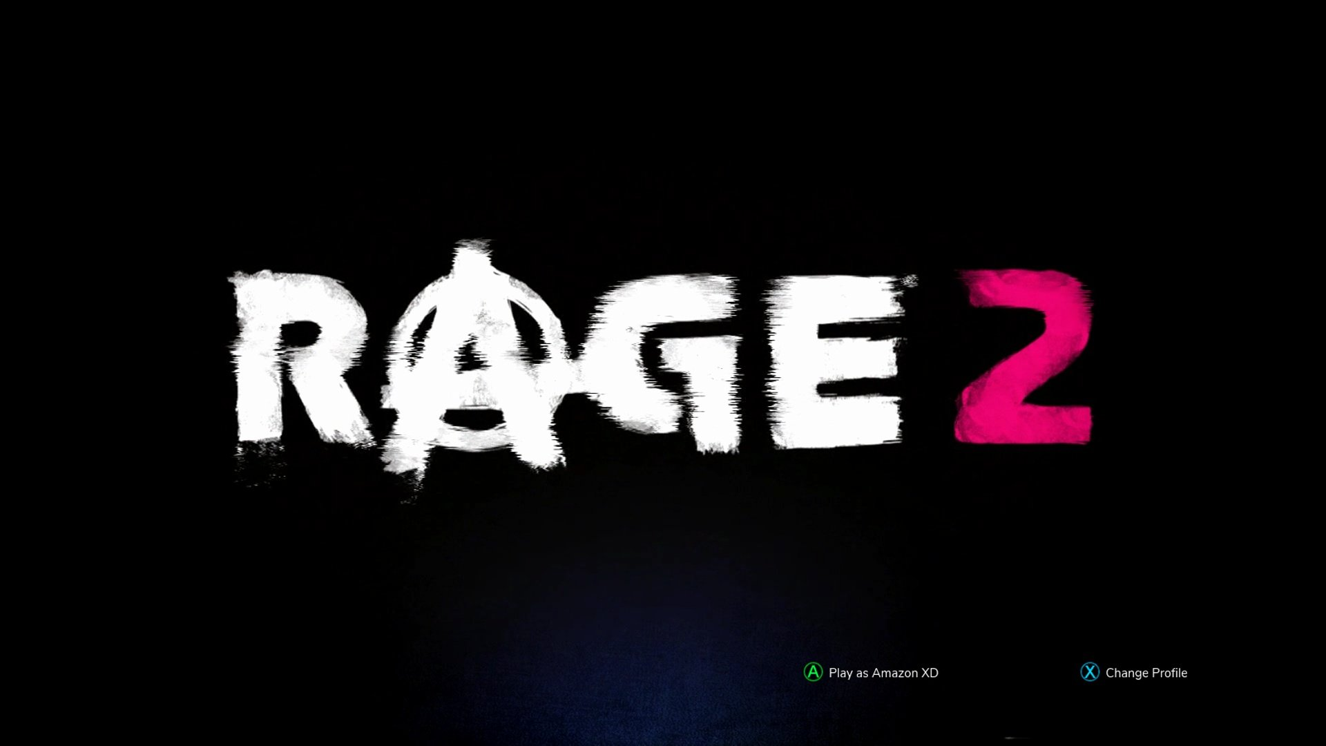 Rage 2 Title Screen