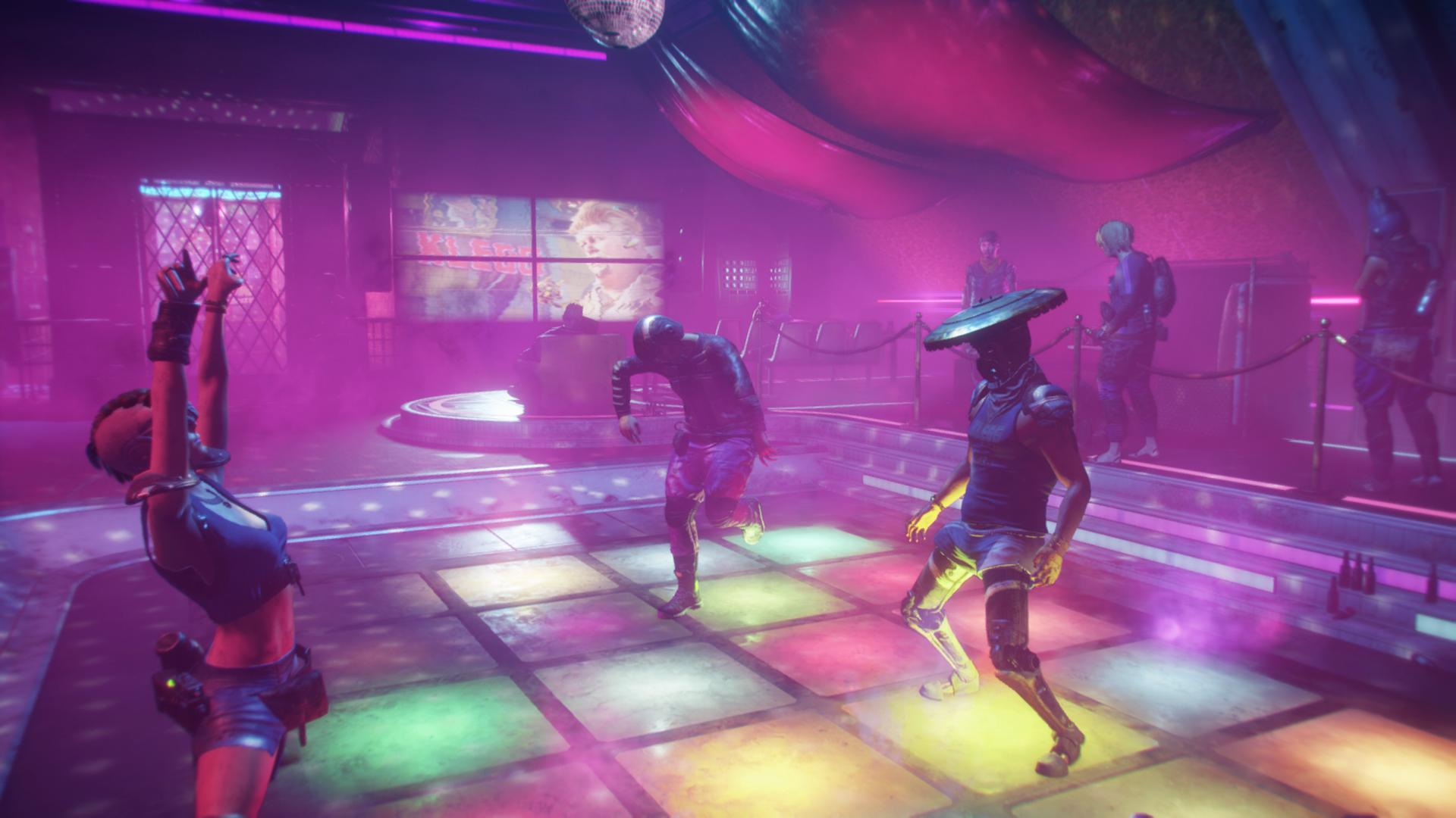Rage 2 Winners Circle Colorful Dance Floor