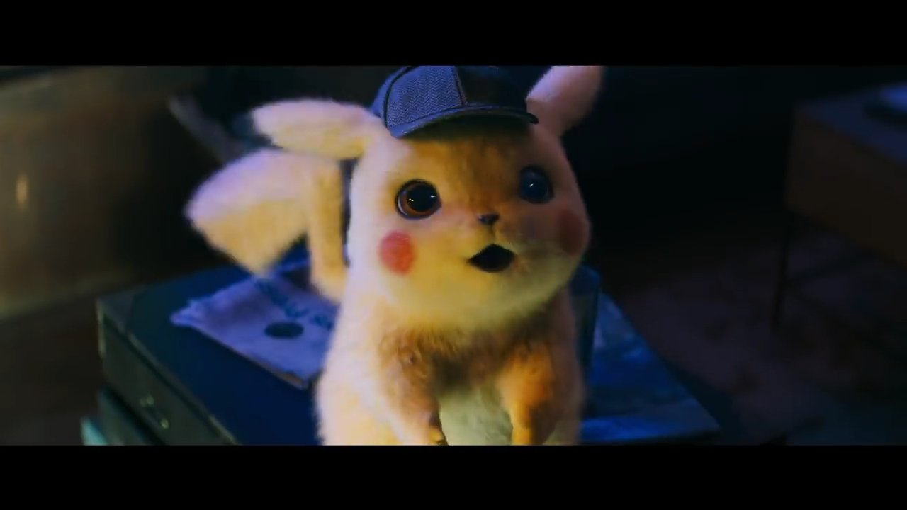 Pikachu Looks Surprised in Pokemon Detective Pikachu