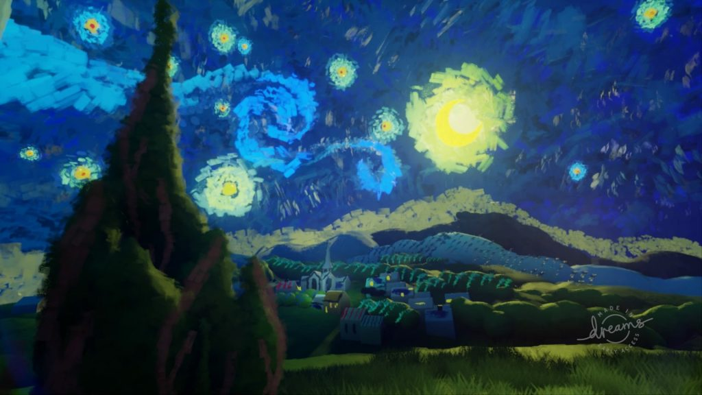 dreams early access starry night painting recreation