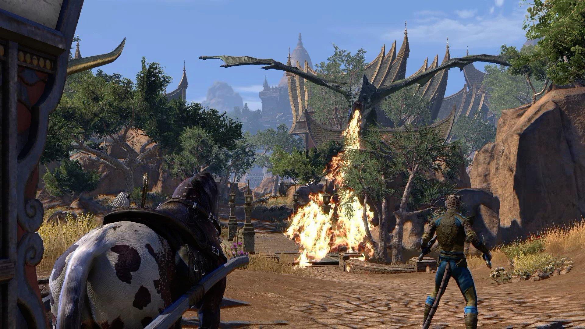 Elsweyr Dragon Breathing Fire