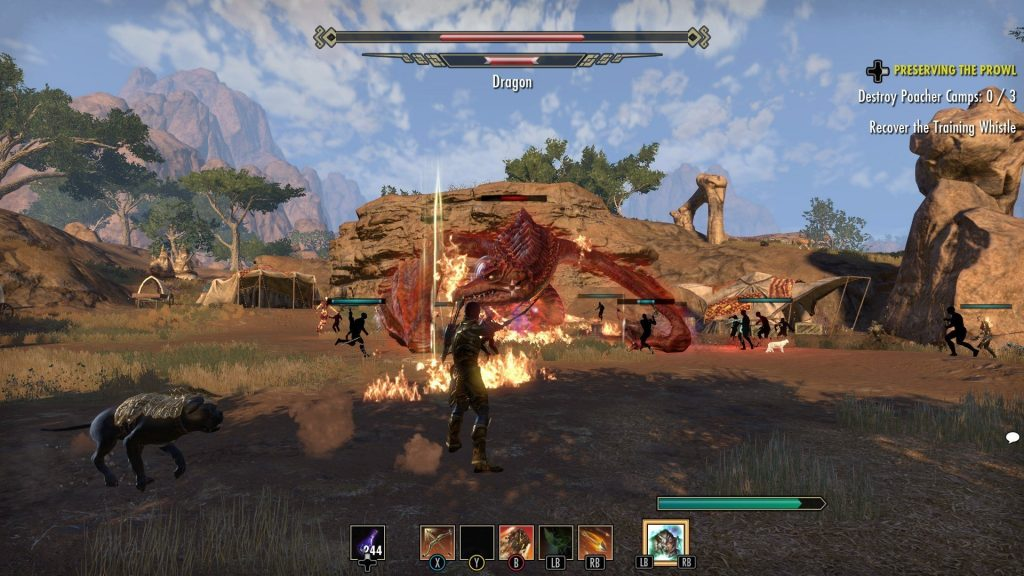 Elsweyr Killing a Dragon