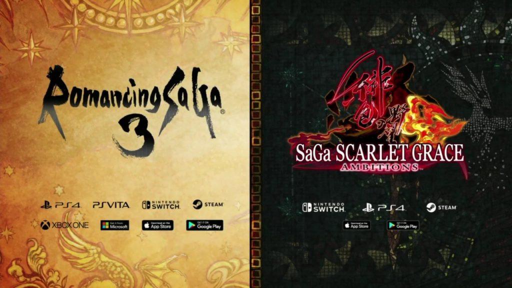 Romancing SaGa 3 and SaGa Scarlet Grace Logos