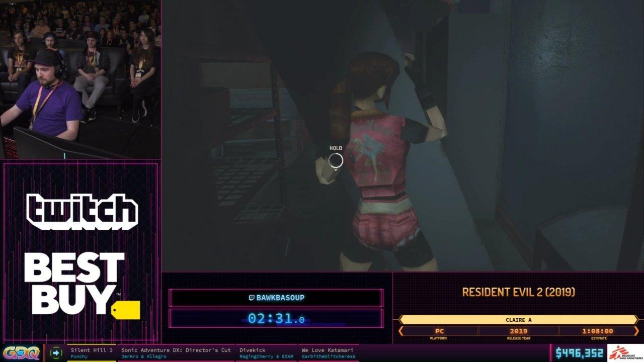 SGDQ 2019 Resident Evil 2 Remake
