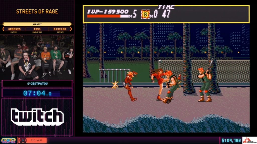 Streets of Rage SGDQ 2019