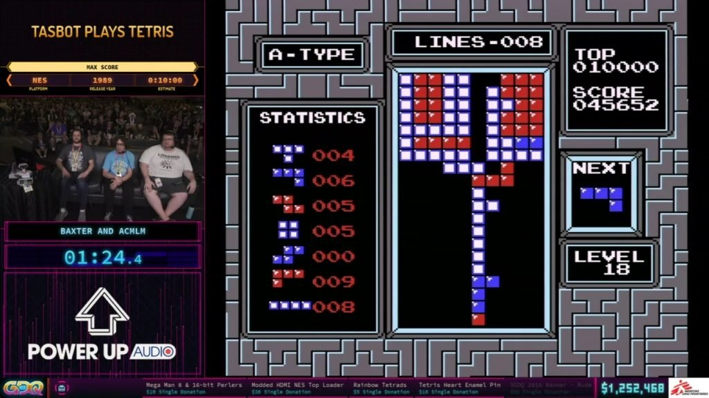 SGDQ 2019 Tetris TAS