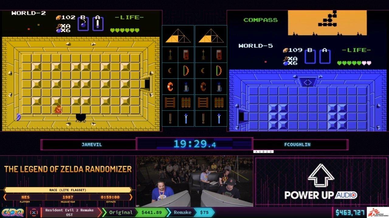 The Legend of Zelda Randomizer race