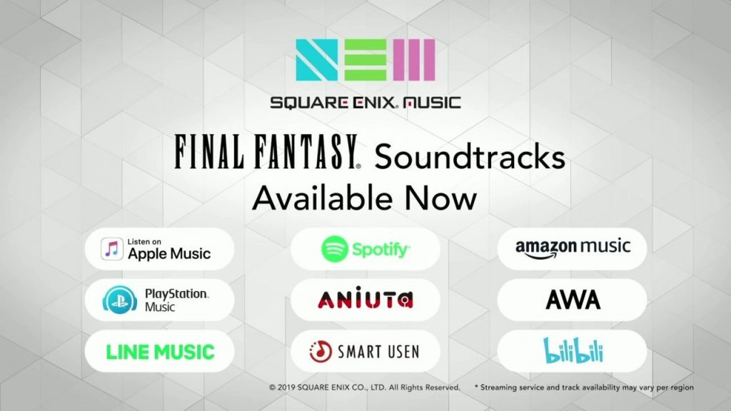Square Enix Music Streaming E3 2019