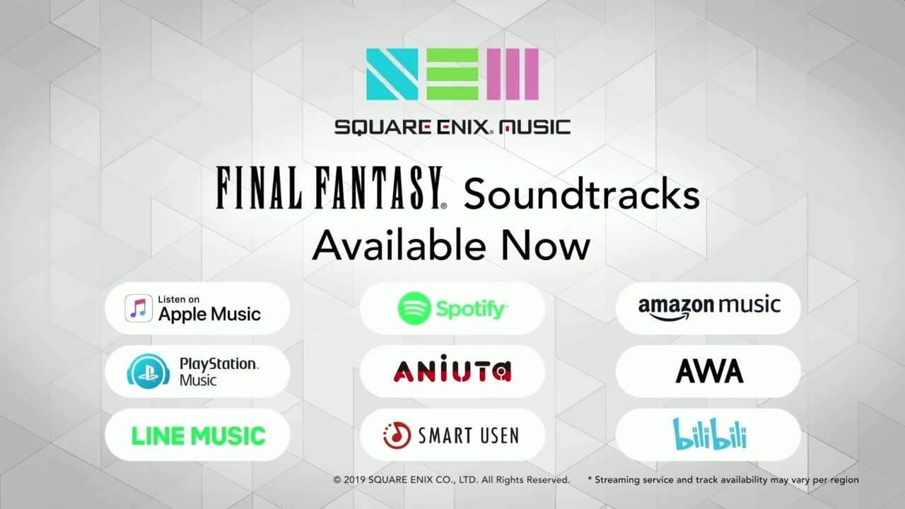 Square Enix Music Streaming E3 2019
