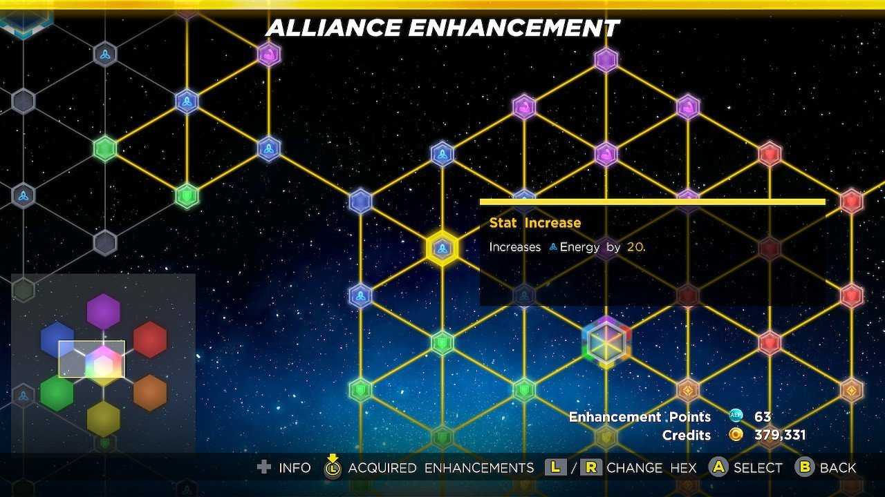 Alliance Enhancement Menu MUA3